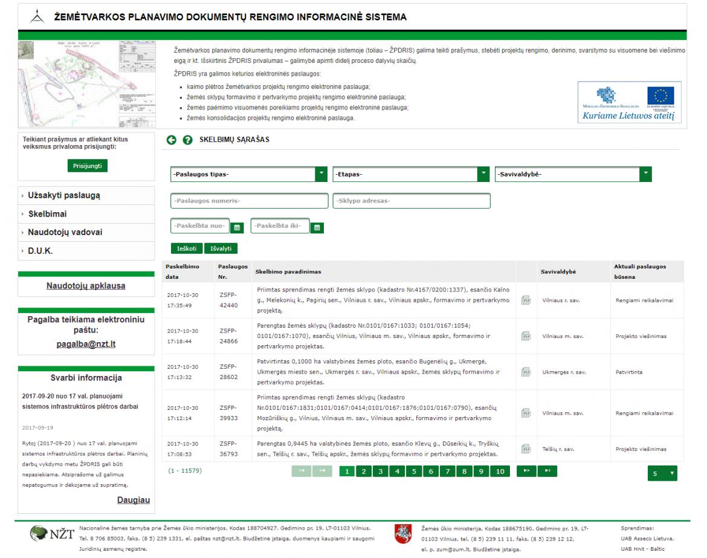 Žemėtvarkos planavimo dokumentų rengimo informacinė sistema